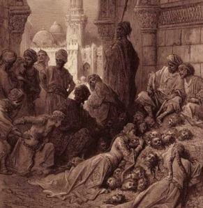 Banu Quraiza was a Jewish town massacred by Muhammad.